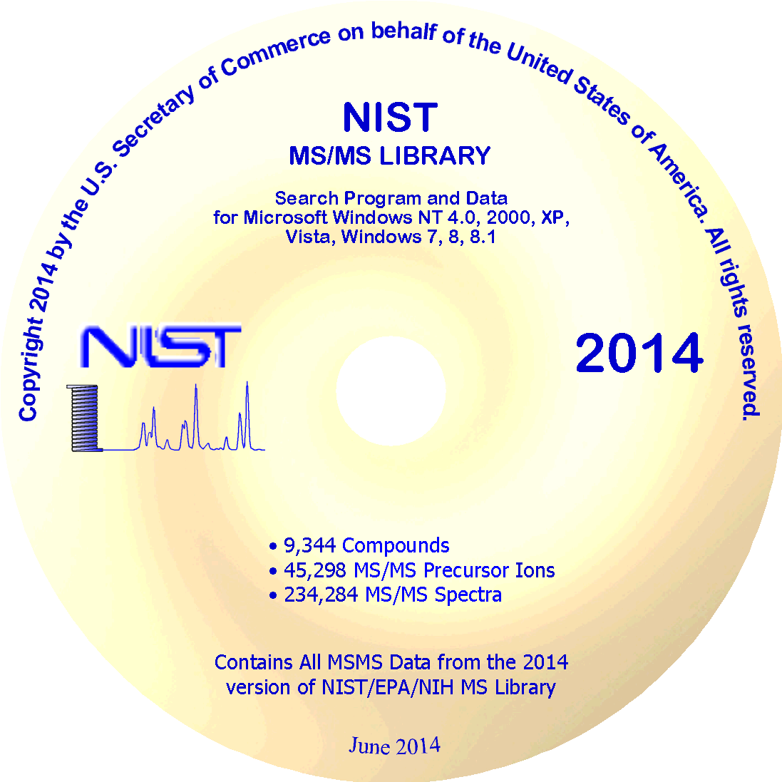 NIST14 Tandem MS (MS/MS) Library
