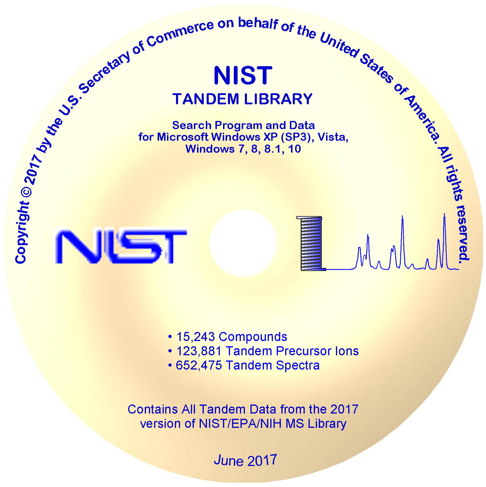 GCImage: NIST/EPA/NIH MS Library and Search Software